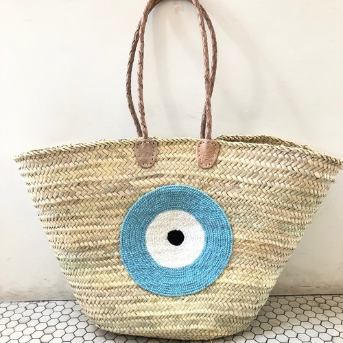 Basket Gods Eye Light Blue
