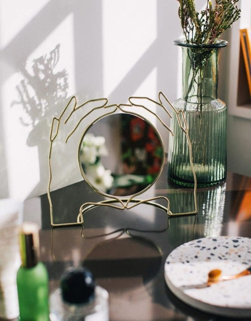 Hands Table Mirror