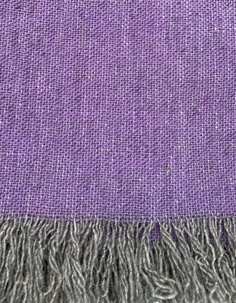 Ashby Twill Lightwool Throw - Purple