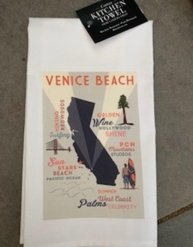 TOWEL Venice Beach, California Camper Van on Beach