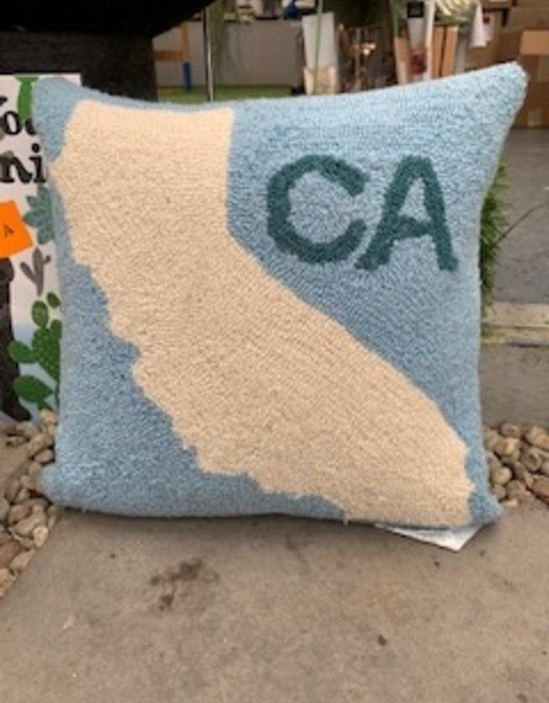 CA map hook wool pillow