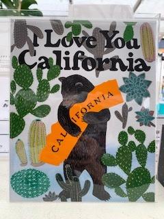"""I Love You California"" Cactus Print - 11"" x 14"""