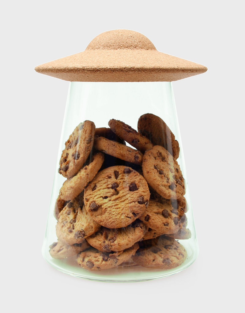 UFO Food Containers With Lids | Cookie Jar | Glass Pantry Storage
