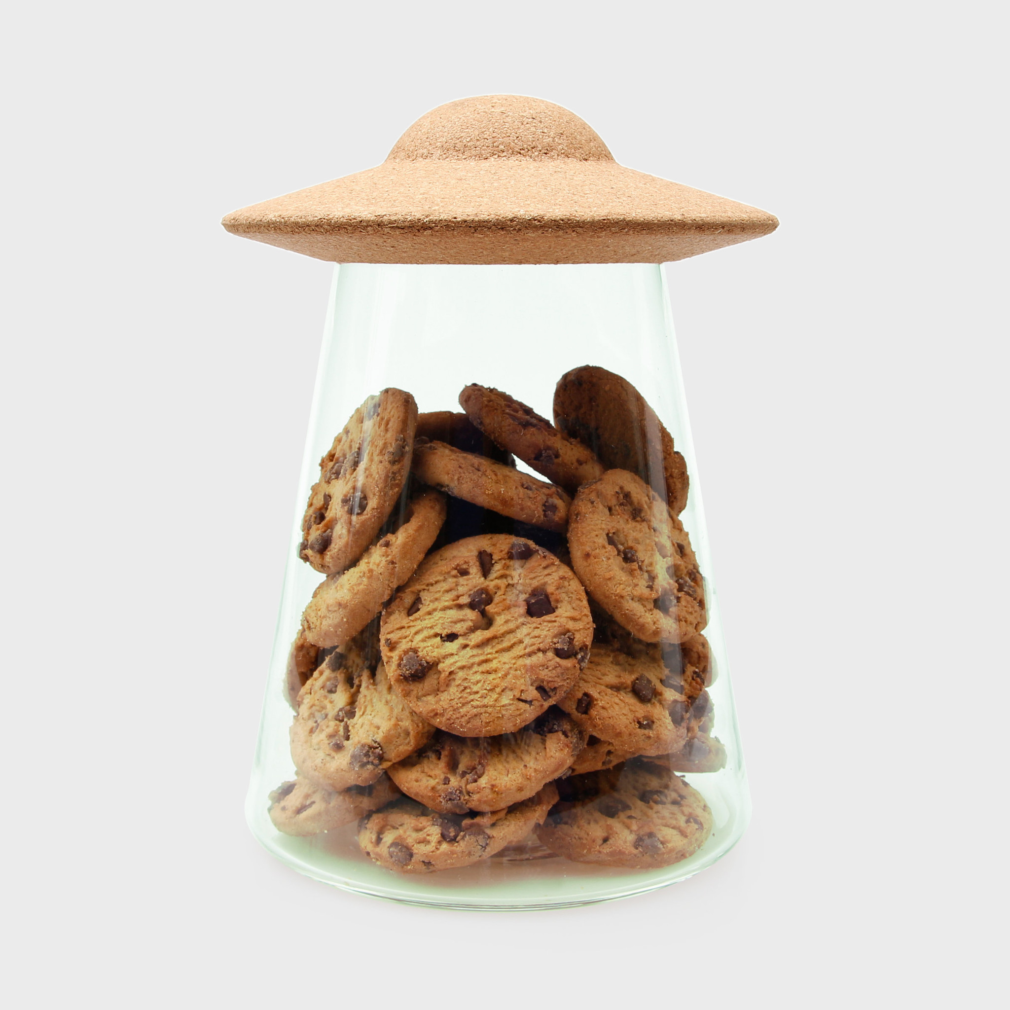 UFO Food Containers With Lids   Cookie Jar   Glass Pantry Storage