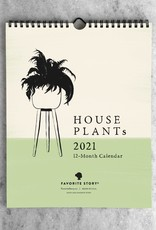 2021 House Plants Monthly Wall Calendar