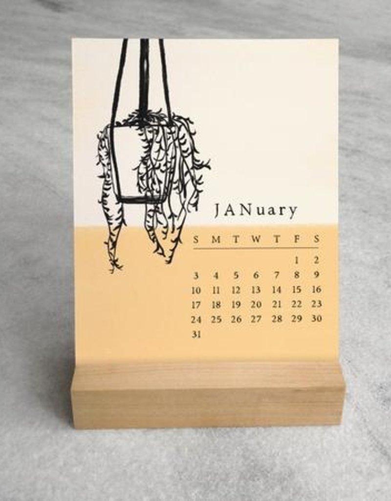 2021 House Plants Desk Calendar