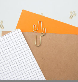 PAPER CLIPS CACTUS GOLD