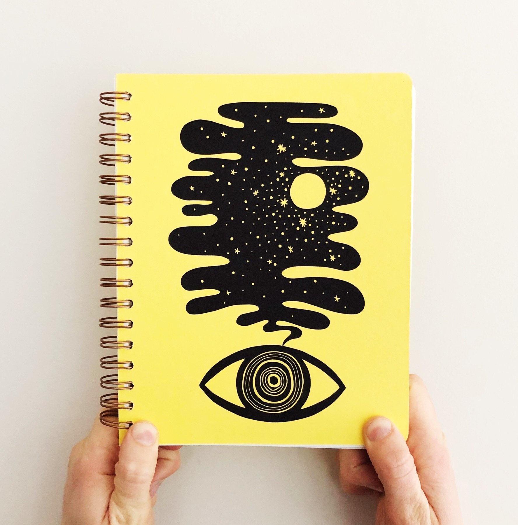Eye Dream Journal in Lemon