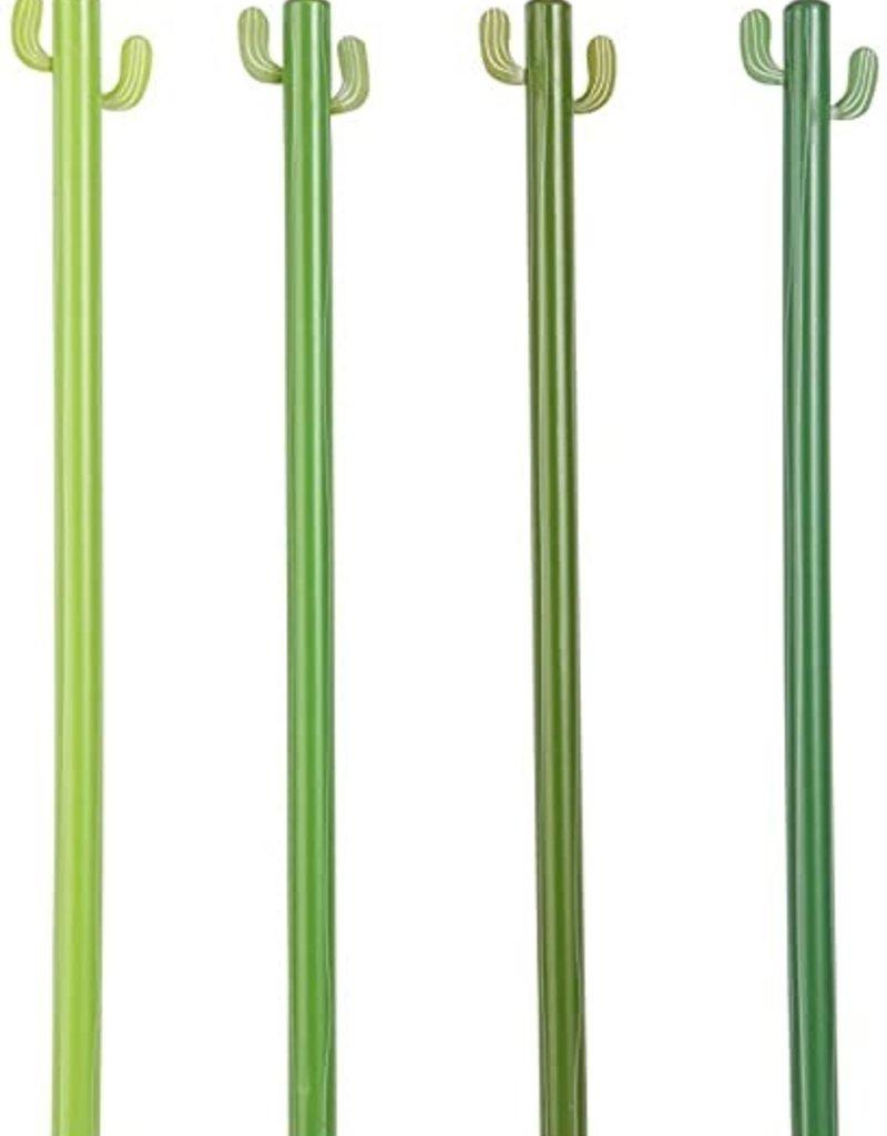 Green Cactus Pencils Set of 4