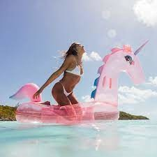 FunBoy Clear Pink Glitter Unicorn