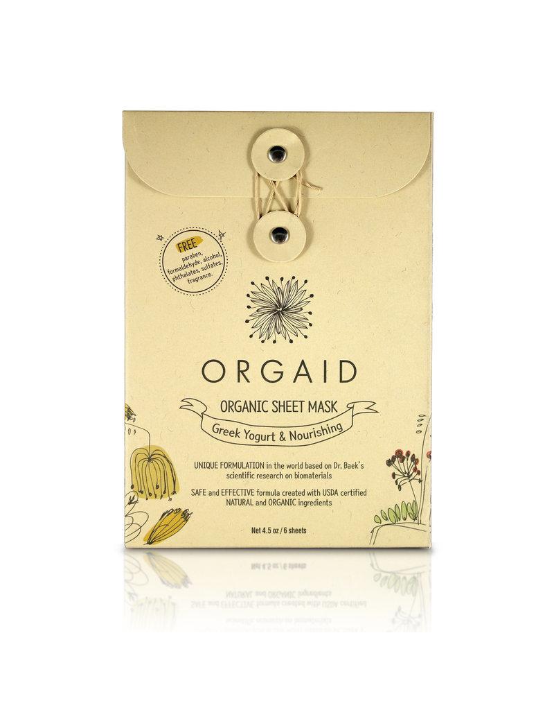 Orgaid Greek Yogurt Sheet Masks 4 Pack***