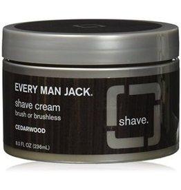 Every Man Jack Shave Cream Cedarwood in a jar 236 ml