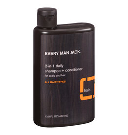 Every Man Jack 2-in-1 Daily Shampoo + Conditioner - All Hair Types - Citrus 400 ml