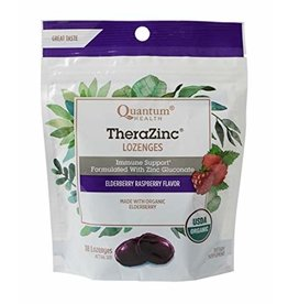 Quantum Health TheraZinc Lozenges Elderberry Raspberry