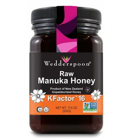Wedderspoon Raw Manuka Honey KFactor 16