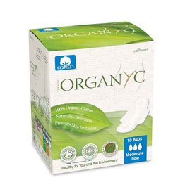 Organyc Pads Moderate Flow 10 ct.