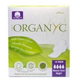 Organyc Pads Heavy Flow Night 10 ct.