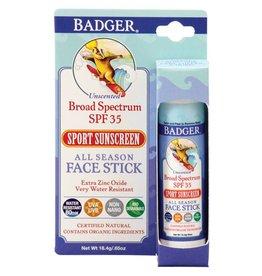 Badger All Season Face Stick Sunscreen Unscented SPF 35 18.4 g