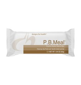 Designs for Health P.B. Meal Macro-Bar Box of 12