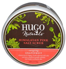 Hugo Naturals Himalayan Pink Salt Scrub Energizing Grapefruit 9 oz