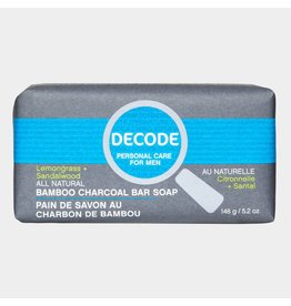 Decode Cleansing Charcoal Bar Soap Lemongrass Sandalwood 148 g