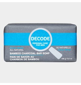 Decode Bamboo Charcoal Bar Soap Citrus Vetiver 148 g
