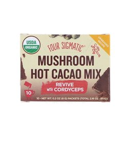 Four Sigmatic Four Sigmatic Mushroom Hot Cacao Mix - Revive with Cordyceps 10 x 6g