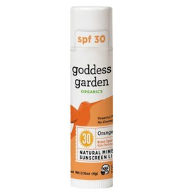 Goddess Garden Mineral Sunscreen Lip Balm Orange Vanilla Broad Spectrum SPF 30