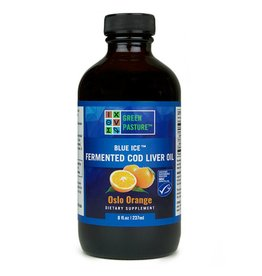 Green Pasture Blue Ice Fermented Cod Liver Oil Osla Orange 237 ml