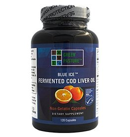 Green Pasture Blue Ice Fermented Cod Liver Oil Orange 120 caps