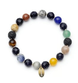 Oriwest Chakra Lava Bead Aroma Bracelet