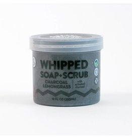 Pacha Soap Co Whipped Soap + Scrub Charcoal Lemongrass