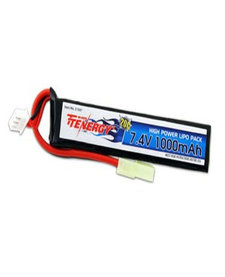 7.4v 1000mAh LiPO Single Stick