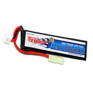 Tenergy 7.4v 1000mAh LiPO Single Stick