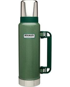 2Qt Classic Vac Bottle Hammertone Green