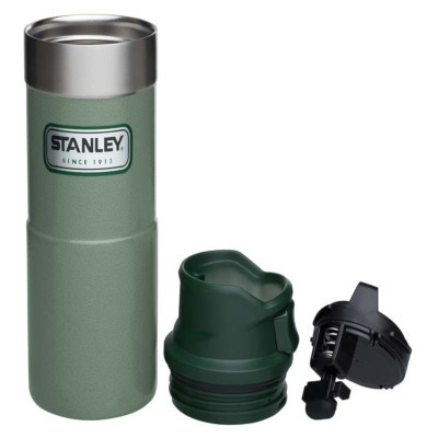 Stanley 20OZ Classic Trigger Action Mug Hammertone Green
