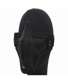 double band mesh mask black