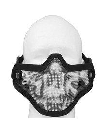 double band mesh mask black skull