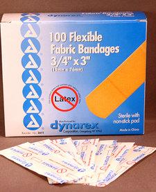 """Flexible Fabric Bandages (3/4""""x3"""")"""