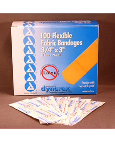 "Flexible Fabric Bandages (3/4""x3"")"
