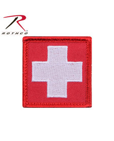 White Cross Red Moral Patch