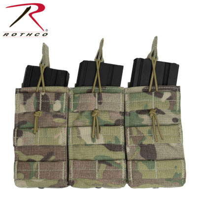Rothco MOLLE Open Top Triple Mag Pouch