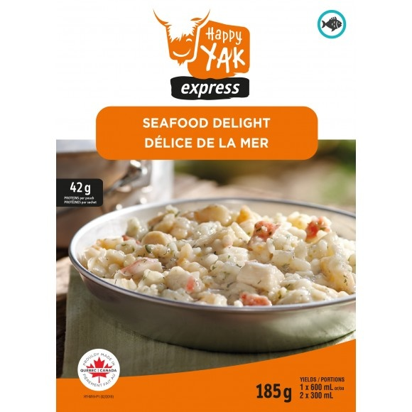 Happy Yak Freeze Dried Meals Seafood Delight (w/ Bechamel Dill Sauce)