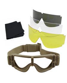 goggle set tan