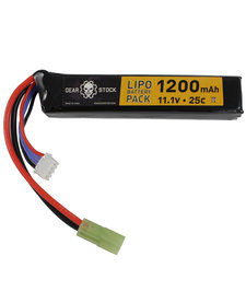 11.1V 25C 1200mAh Stick LiPo battery