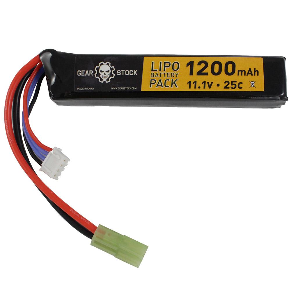 Gear Stock 11.1V 25C 1200mAh Stick LiPo battery