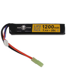 7.4V 25C 1200mAh Stick LiPo battery