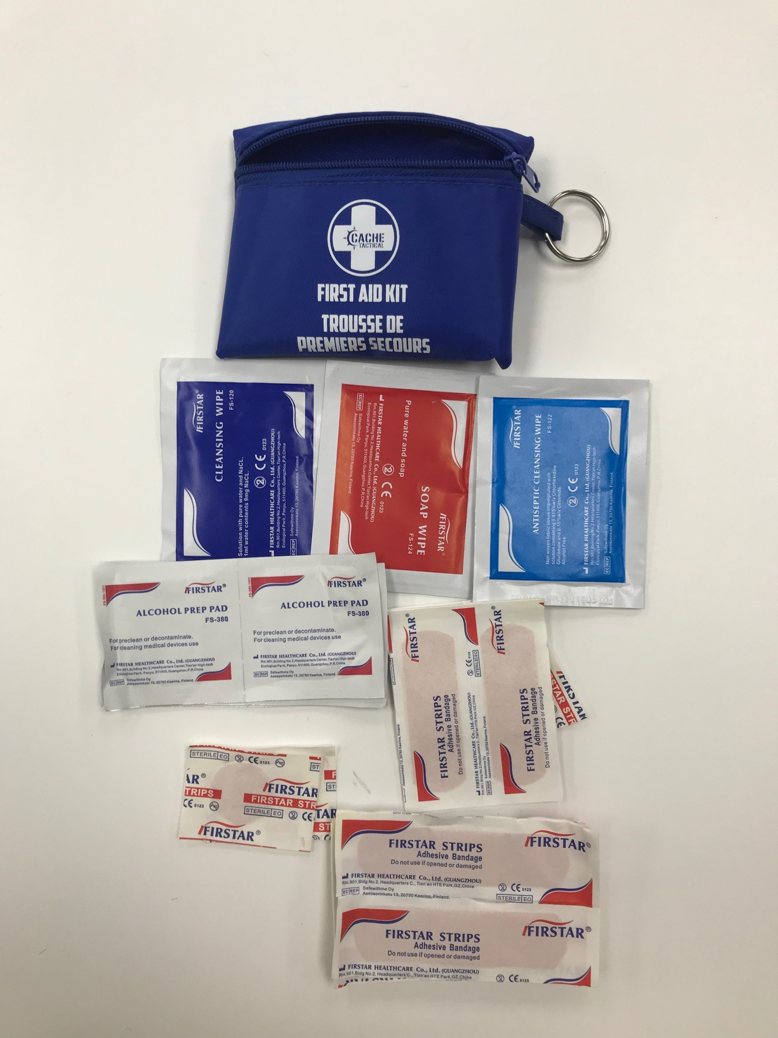 Cache Tactical Keychain First Aid Kit