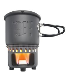 Solid Fuel Stove Plus Cookset Hard Anozided Aluminum