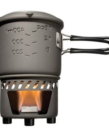Solid Fuel Stove Plus Cookset Stainless Steel
